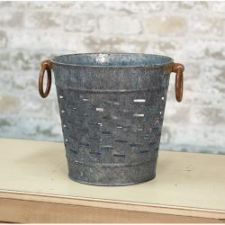 Galvanized Olive Bucket