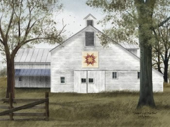 Quilt Block Barn 12x16 Billy Jacobs print 2016