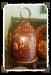 Fireside Punched Tin Lantern-primitive lighting,primitive accent lighting,period lighting,rustic lighting,Irvin's,sconces,electric accent lighting,colonial lighting,tinware,tin lighting,American Made lighting,lamps,chandeliers,prim lighting,antique reproduction lighting,lighting