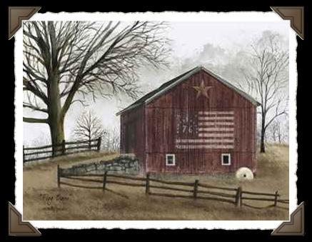 Flag Barn Print