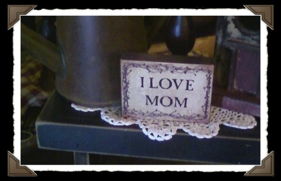I Love Mom block sign-Inspirational,wood sign,Love