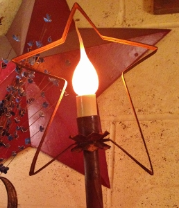 Rustic tin Tree topper