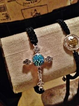 Lotti dottie Woven Cross bracelet