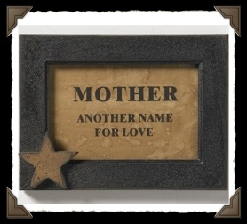 Mother plaque in frame
