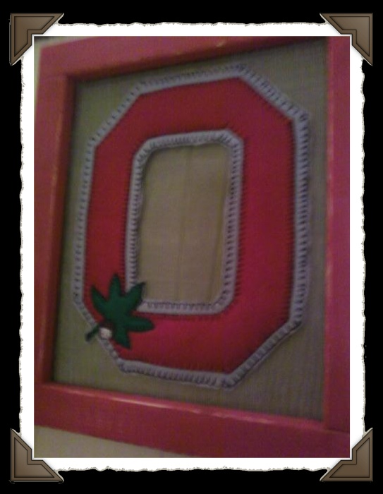 "Handmade BLOCK ""O"" Stitching"
