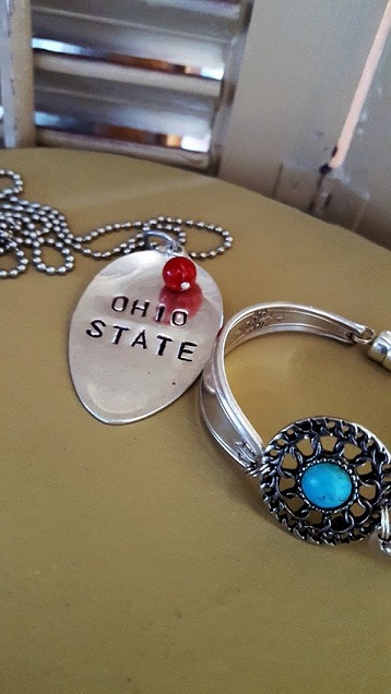vintage Ohio State necklace