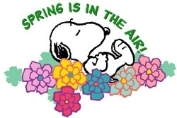 spring is in the air snoopy