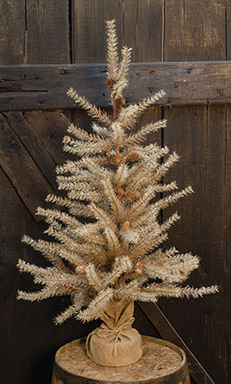 Antique frosted pine tree 3 ft.