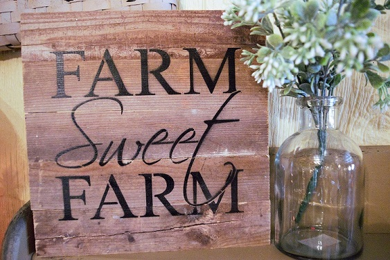 Farm Sweet Farm Reclaimed wood sign