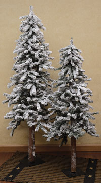 flocked alpine pine tree