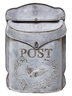 galvanized post mailbox