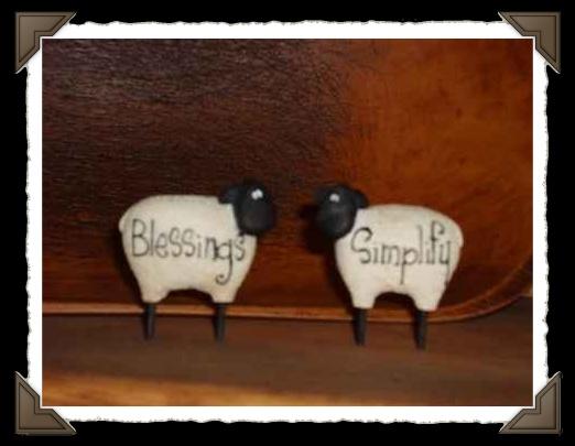 minisheepwithsayings-sheep,primitive sheep,country sheep,sheep decor,inspirational,