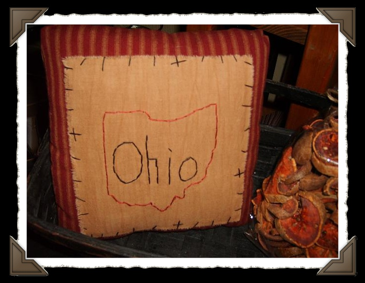OHIO stitched pillow