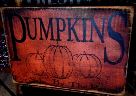 pumpkins by the pound sign