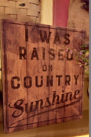 Country Sunshine Boxed Sign