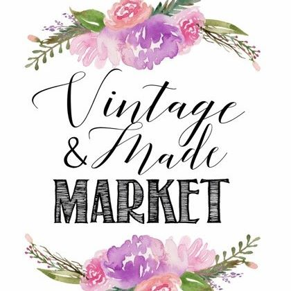 vintage & made market postcard
