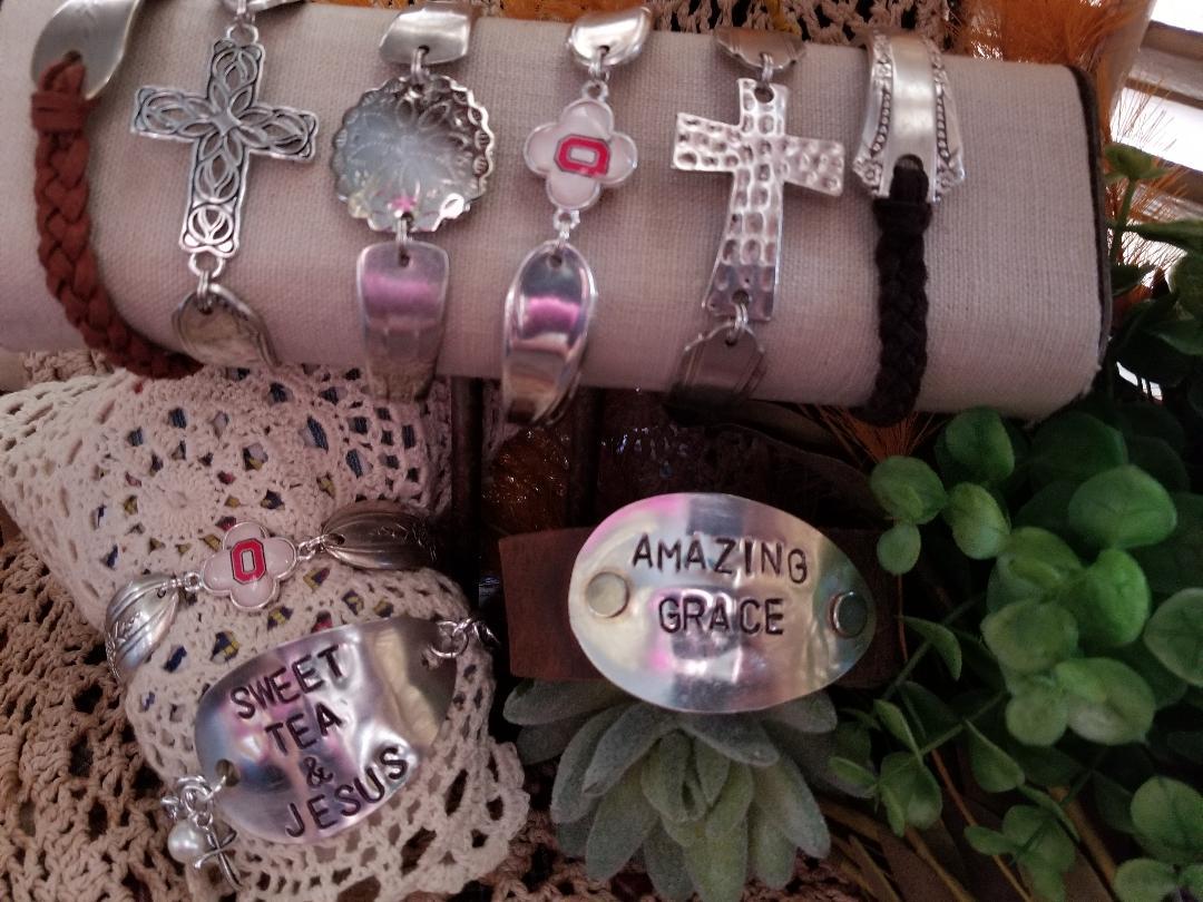 Vintage Inspired Sweet Tea & Jesus bracelet